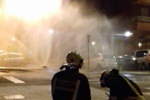 Los bomberos controlan una fuga de gas en Antonio Machado