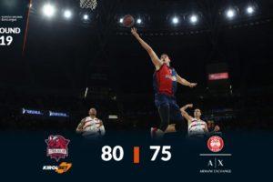 Baskonia derrota al Olimpia Milán para seguir en el Top 8
