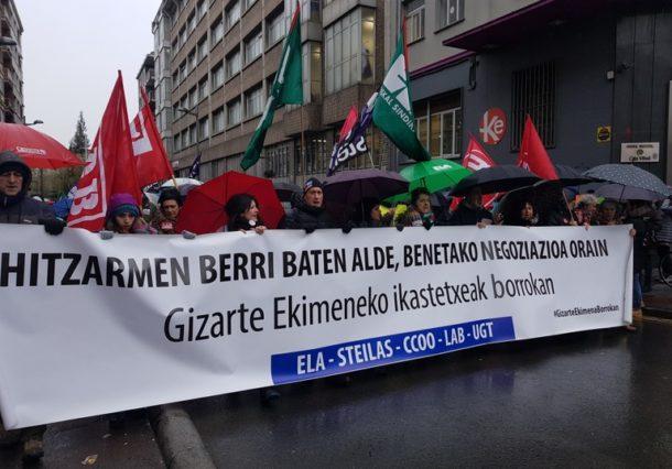 Manifestación de los profesores concertados en su quinto día de huelga