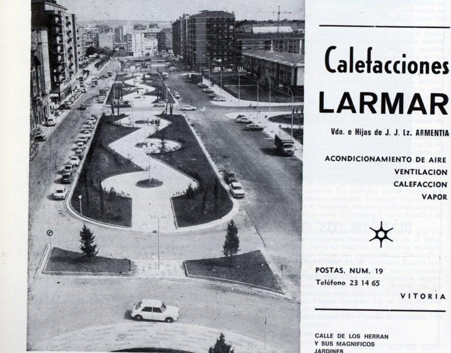 Calle Los Herrán tras la última reforma. Revista Vida Vasca 1981. Fondo Fundación Sancho el Sabio.