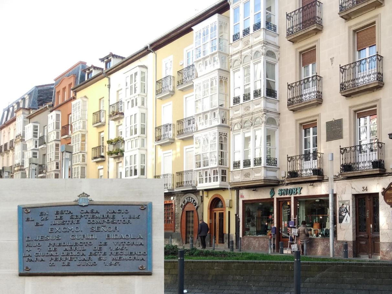 Placas conmemorativas-Vitoria-Historia -Guridi