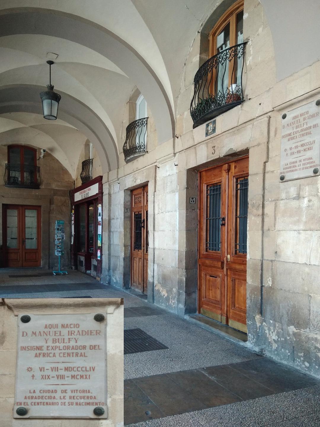 Placas conmemorativas-Vitoria-Historia-Manuel Iradier