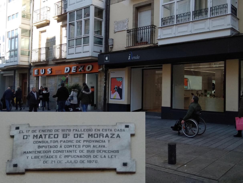 Placas conmemorativas-Vitoria-Historia-Mateo de Moraza