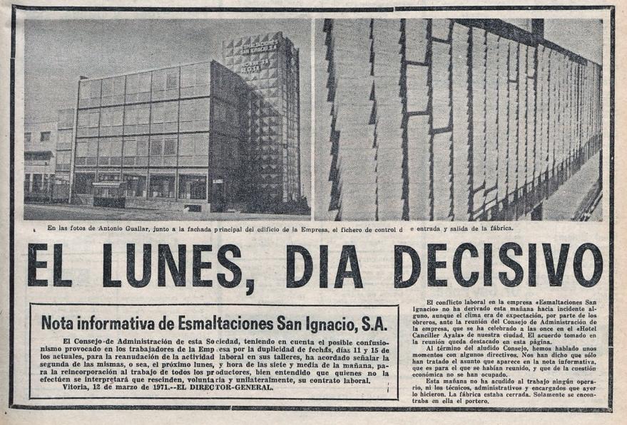 Portada de Norte Exprés del día 12/03/1971. Hemeroteca Liburuklik.