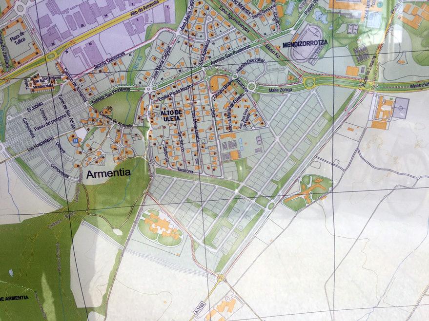 mapa vitoria futuro armentia urbanizacion