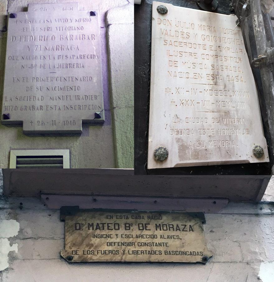 placas conmemorativas vitoria