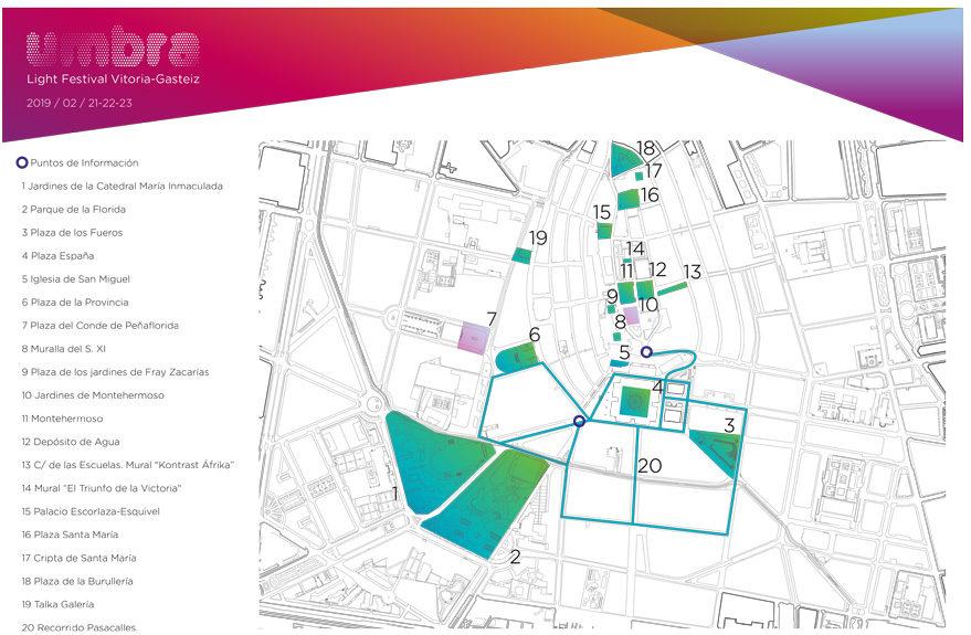 umbra light festival mapa