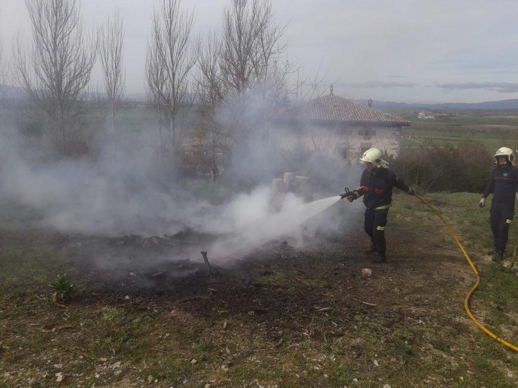 incendio argomaniz bomberos