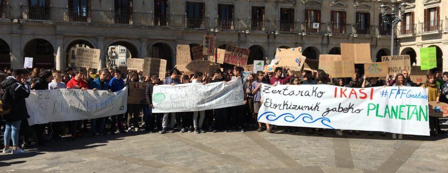 huelga cambio climático fridays for future vitoria