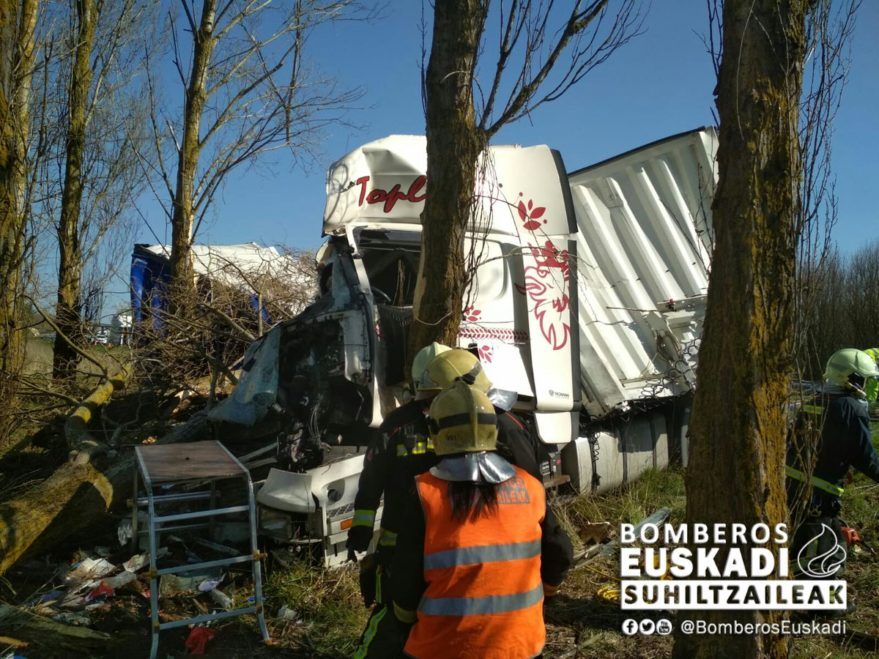 accidente camion a1