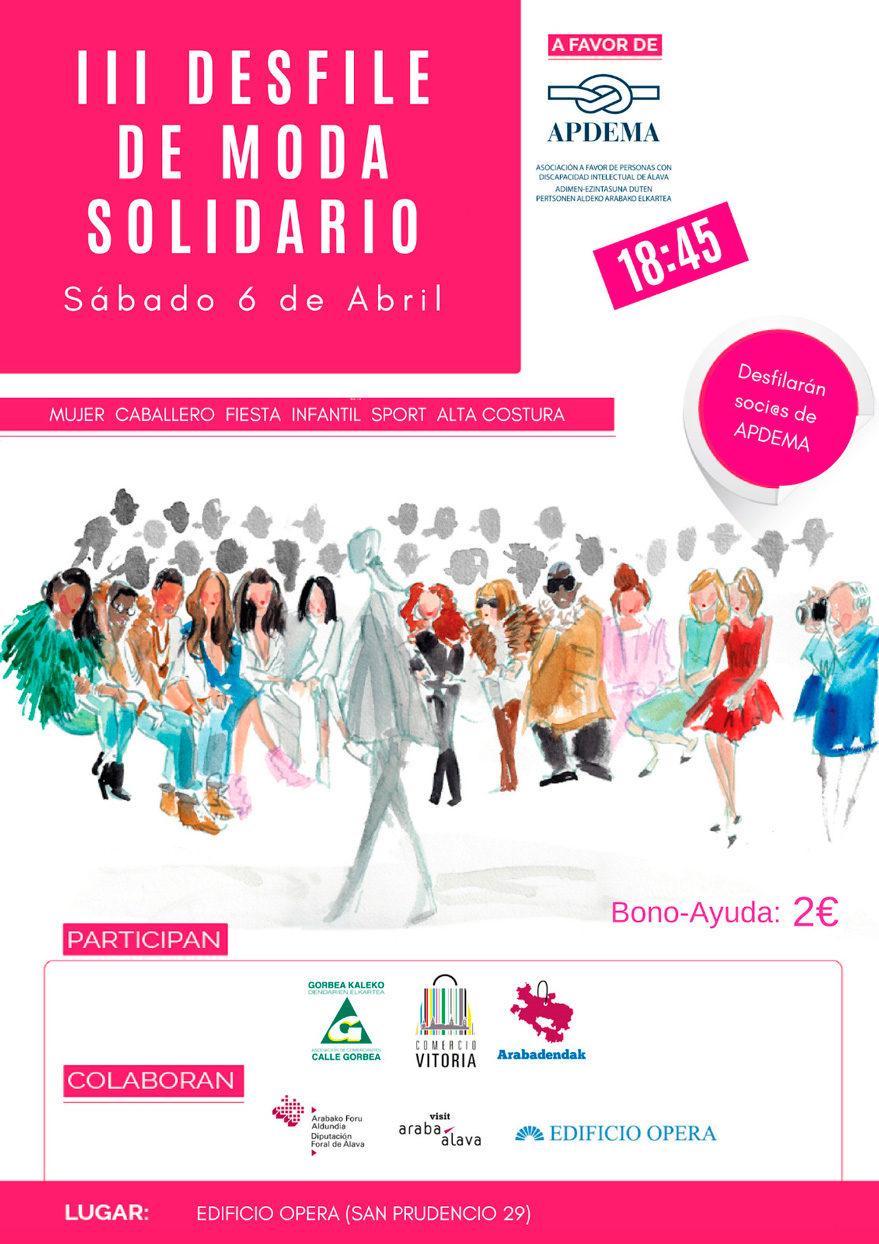 desfile moda solidario calle gorbea comercio vitoria