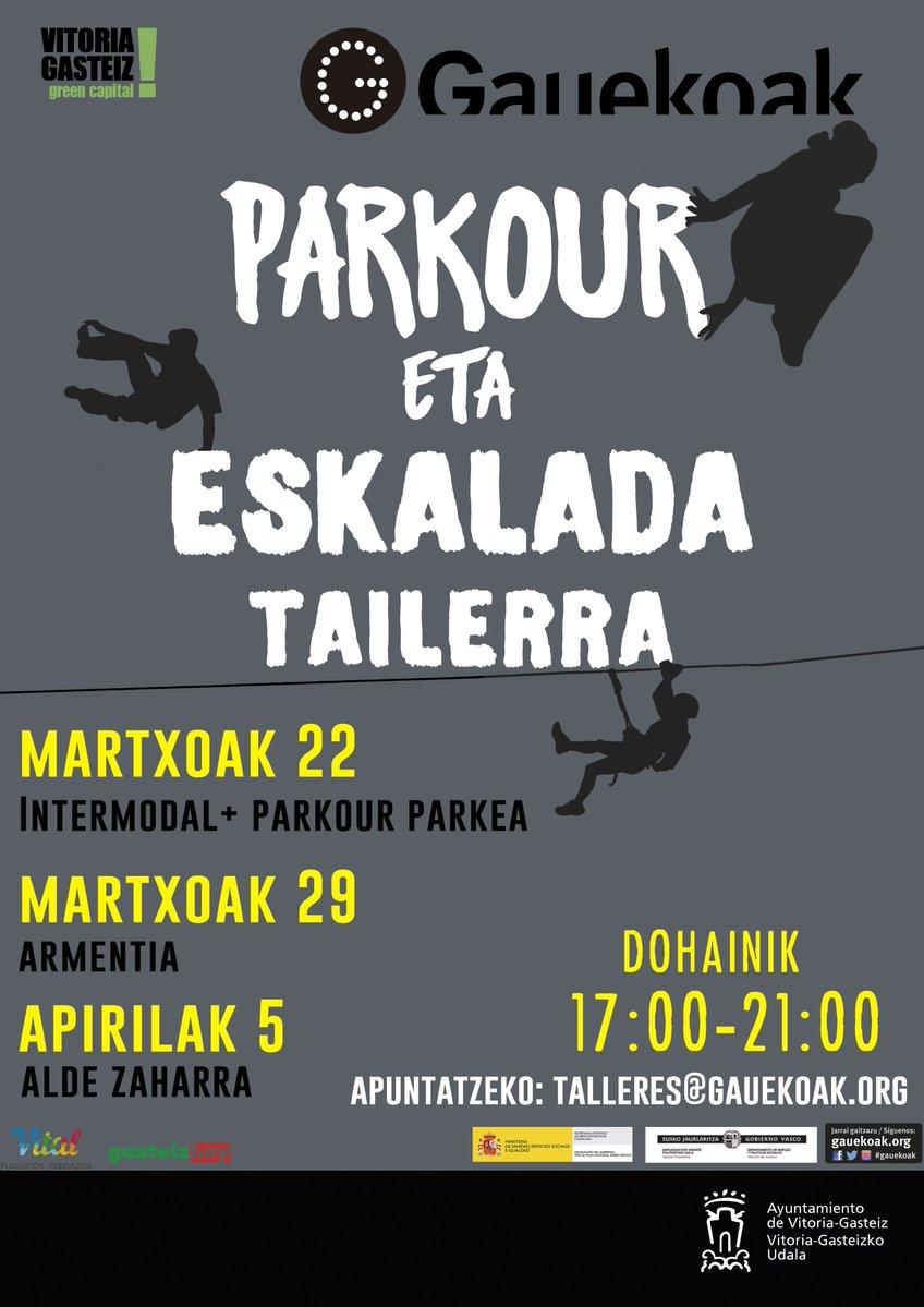 Parkour eta Eskalada Tailerra @ Diversos lugares