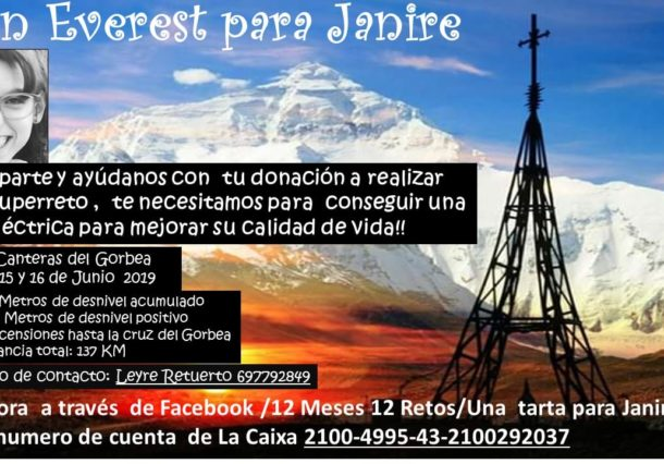 Un vitoriano quiere 'subir el Everest' en el Gorbea por una causa solidaria