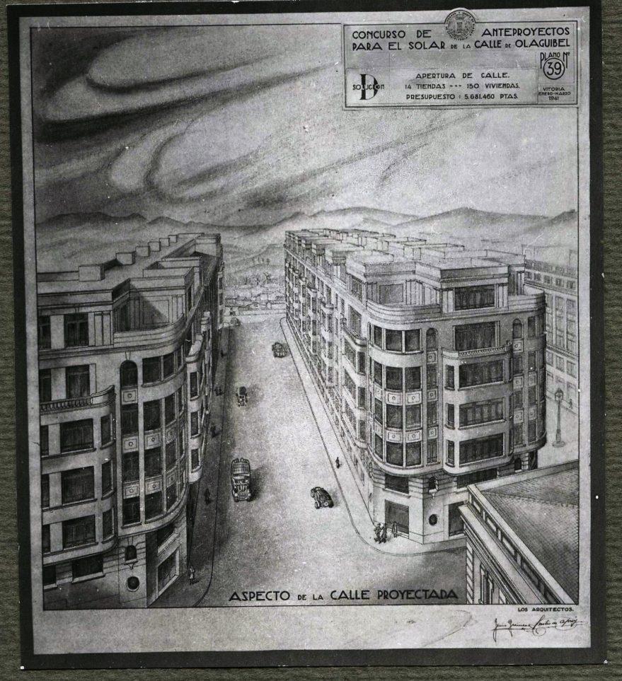 Proyecto de prolongación de la calle Mateo Moraza. Fondo Fundación Sancho el Sabio.