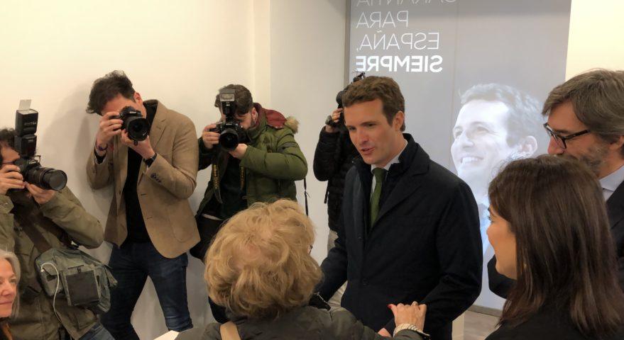 Pablo Casado visita Vitoria-Gasteiz