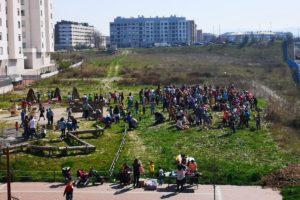 Borinbizkarra estrena 'bosque urbano'  por el Araba Euskaraz