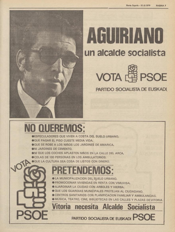 eleccioes municipales 1979 vitoria psoe