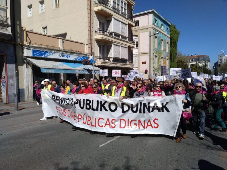 manifestacion pensionistas vitoria