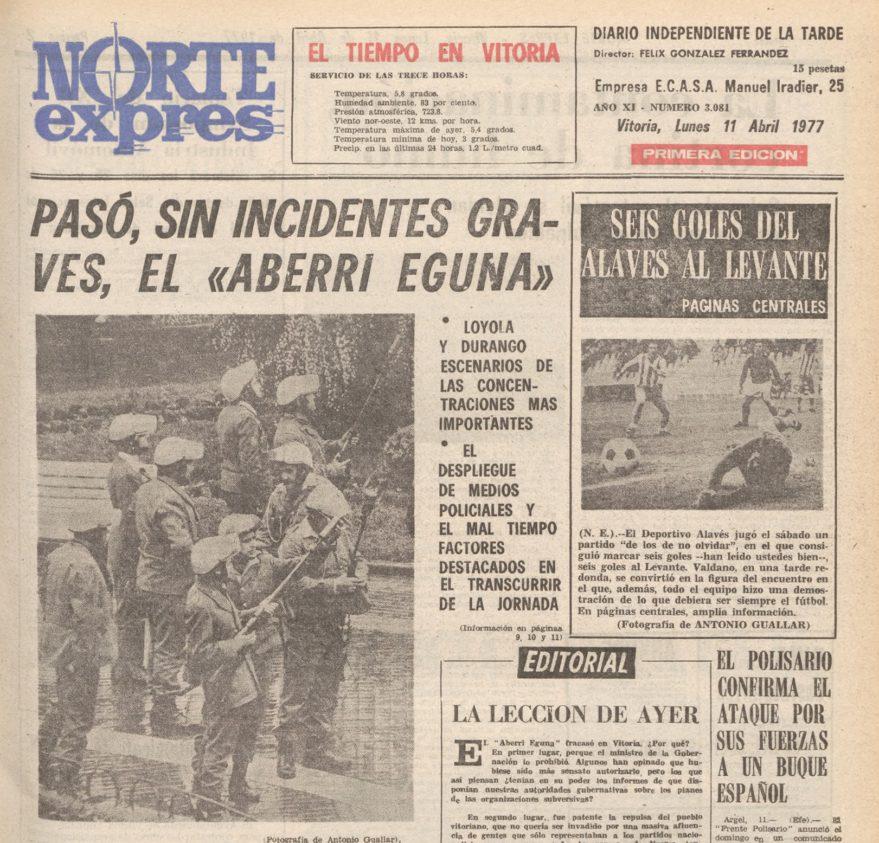 norte expres aberri eguna 1977