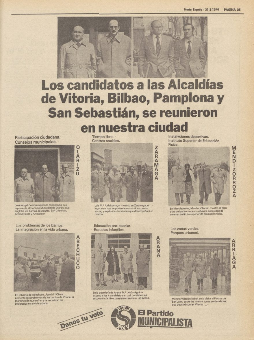 anuncio campaña 1979 pnv