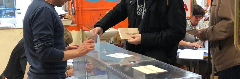 #EleccionesVG: la participación a las 18:00 cae casi medio punto en Vitoria-Gasteiz