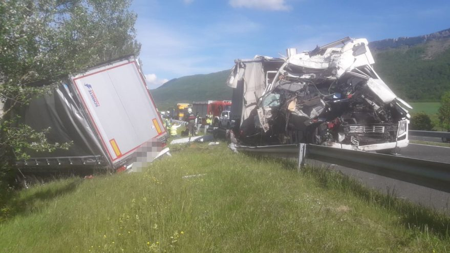 camion accidente
