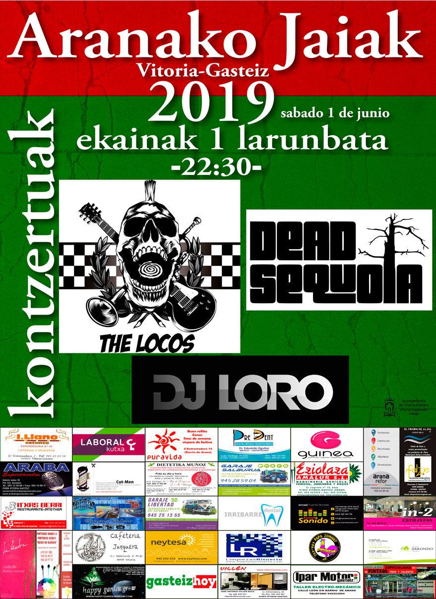 conciertos fiestas de arana 2019