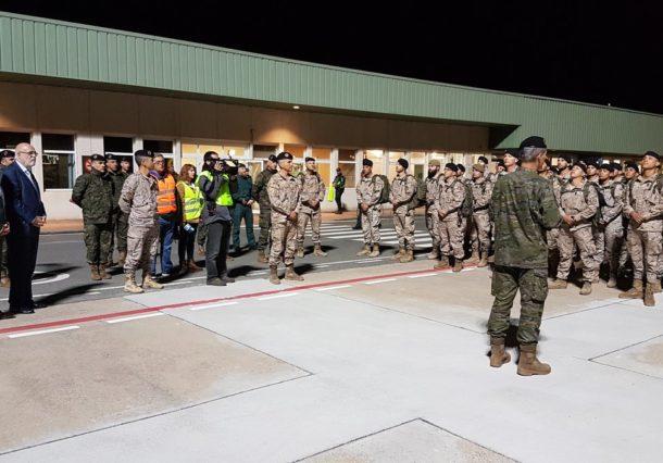 Foronda acoge el regreso de tropas españolas en Iraq