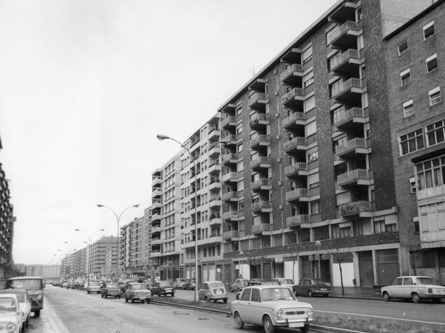 Avenida Gasteiz en 1972. Fondo Fundación Sancho el Sabio.