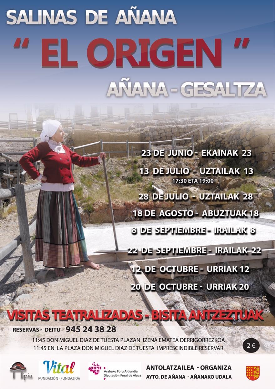 Cartel visitas teatralizadas Salinas 2019