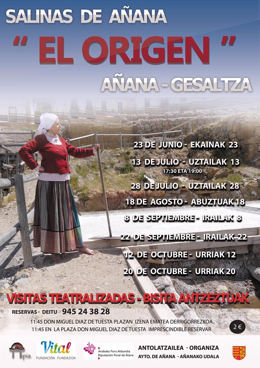 Visitas teatralizadas Salinas 2019 @ Salinas de Añana