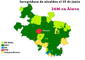 Alcaldías en Álava: Labastida, Zigoitia y Laguardia para el PNV, Samaniego para EH Bildu