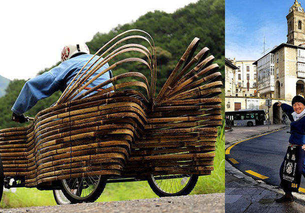 Un japonés y un francés participarán con carros de bambú en la bajada de Goitiberak
