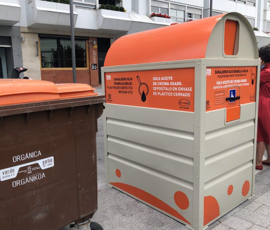 contenedores para reciclar aceite vitoria