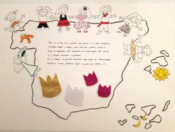 El dibujo que una estudiante de Virgen Niña enseñará al rey Felipe VI