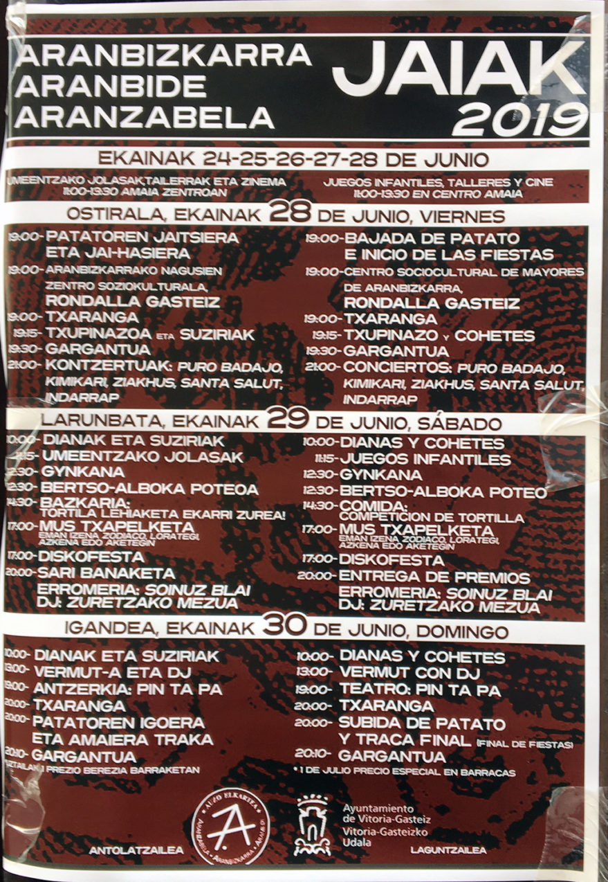 Fiestas de Aranbizkarra