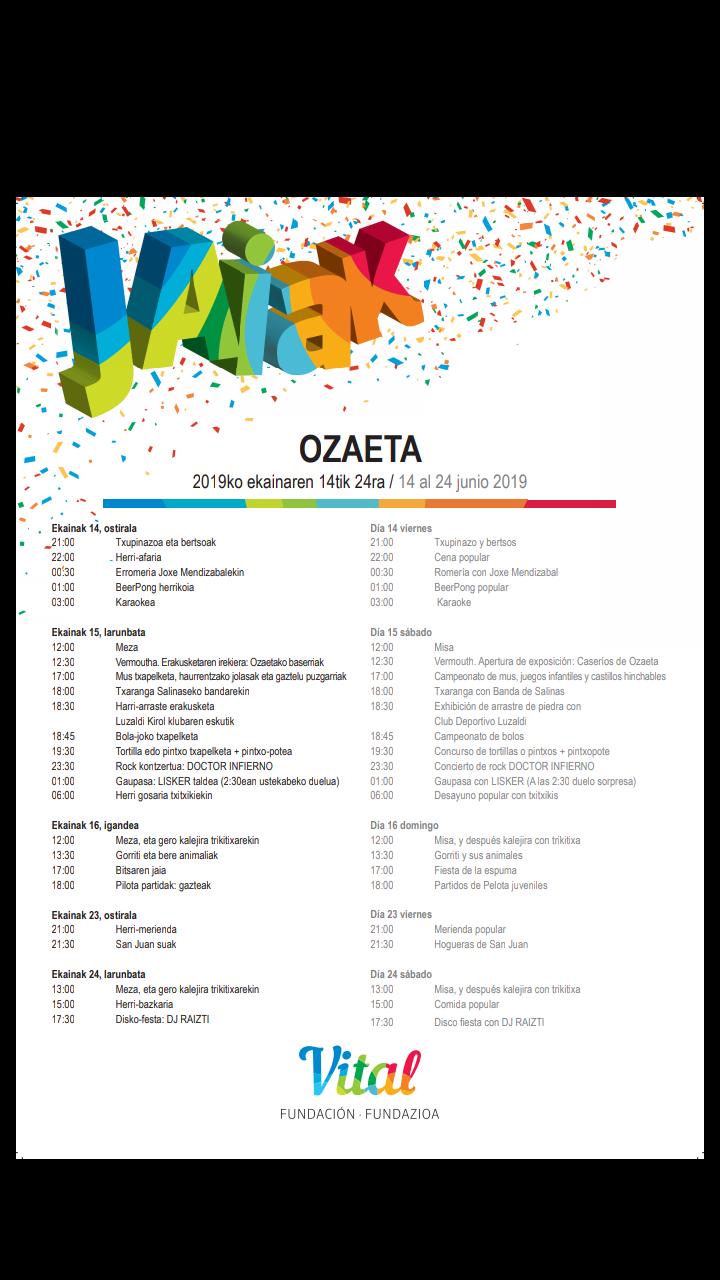 Fiestas de Ozaeta