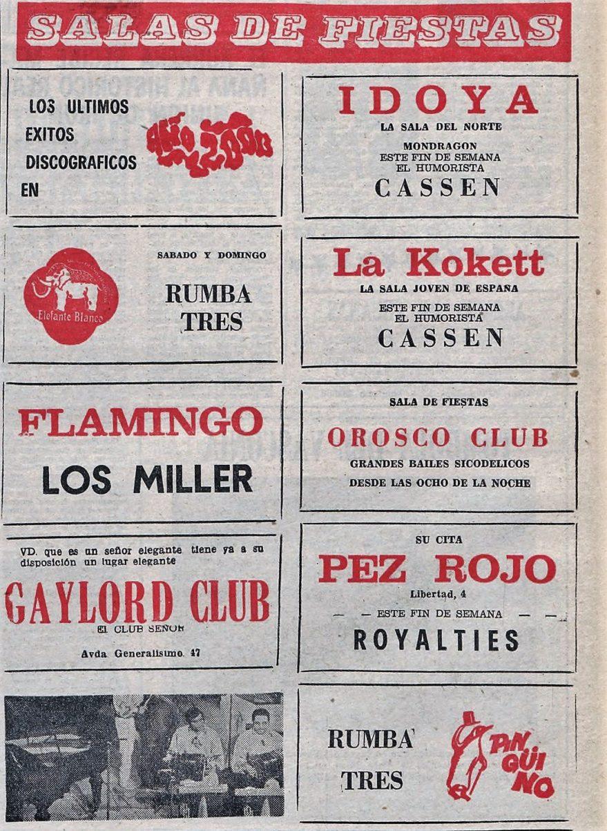 salas fiestas dicoteca vitoria 1972