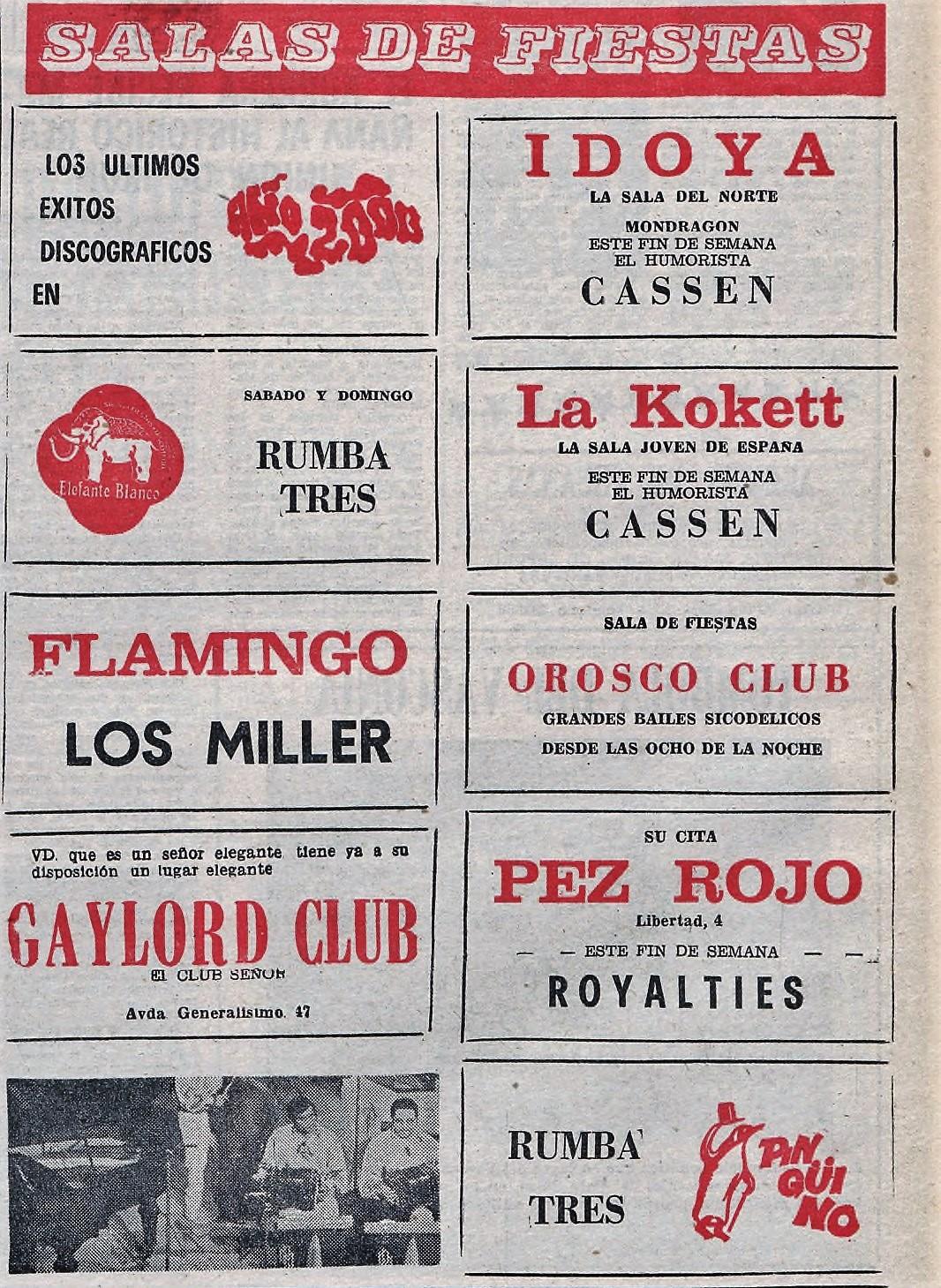 Flamingo, Elefante Blanco, El Pingüino y La Kokett: las discotecas de los 70 en Vitoria | Gasteiz Hoy