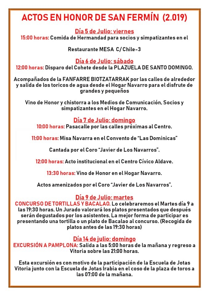 San Fermín @ Hogar Navarro