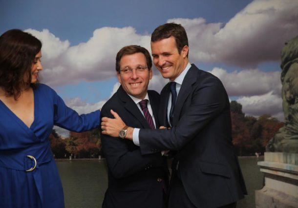 Pablo Casado y el alcalde de Madrid acuden este sábado a un acto del PP en Artium