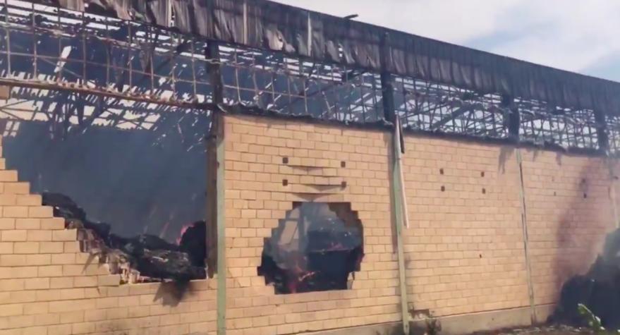 Arde un almacén de paja en Elburgo