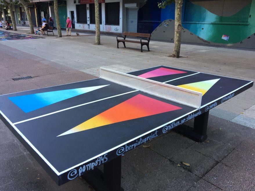ping pong mural el pilar