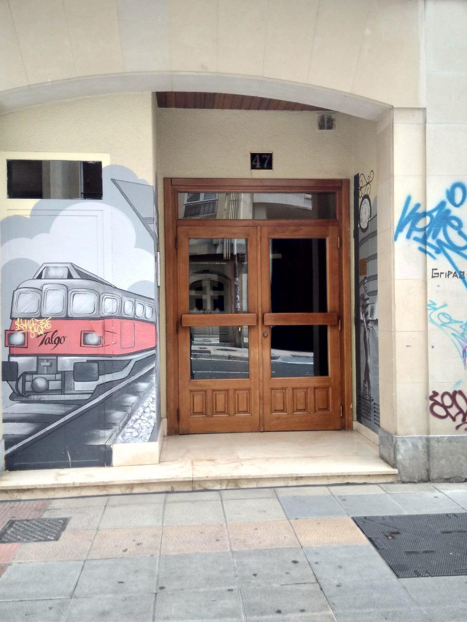 pequeños murales, Vitoria-Gasteiz, Arte Urbano, talgo