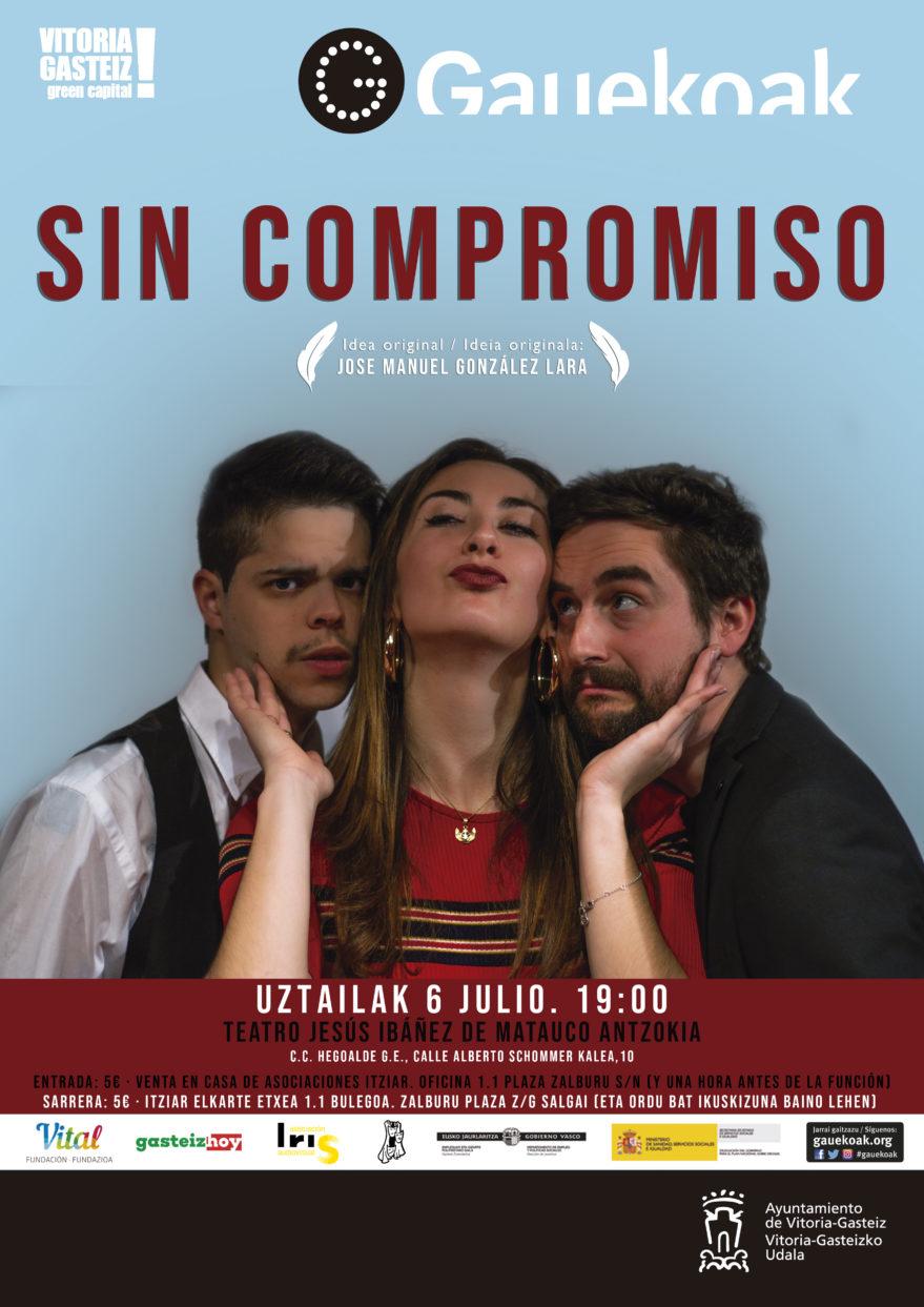 "Cartel obra ""Sin compromiso"""