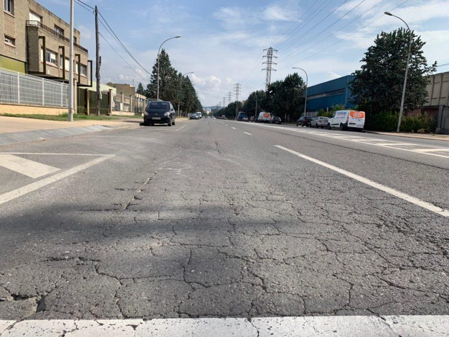 asfalto calle urartea vitoria