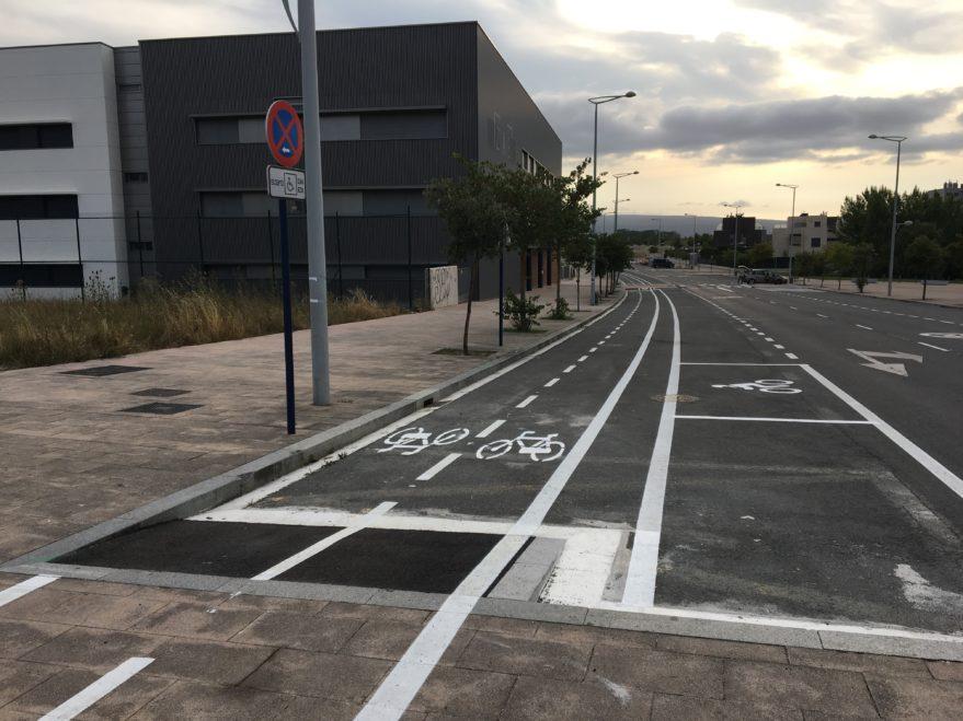 Carril Bici en Portal de Zuazo