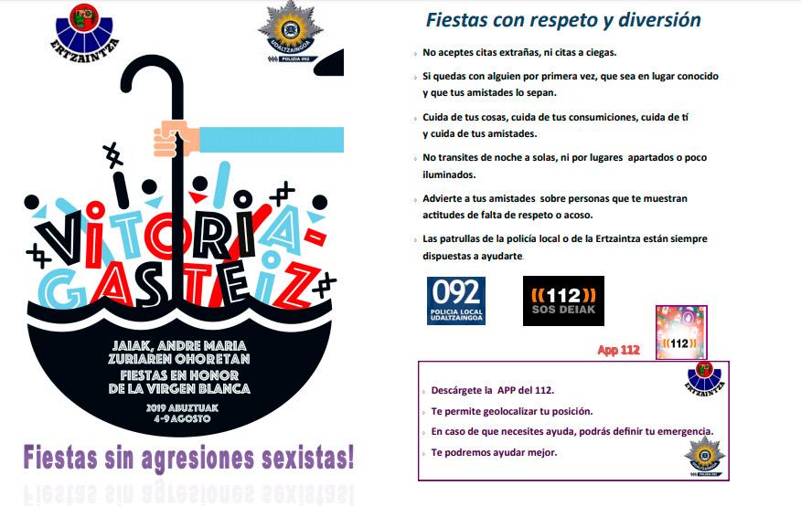 """La """"manada """"  Ertzaintza-policia"""