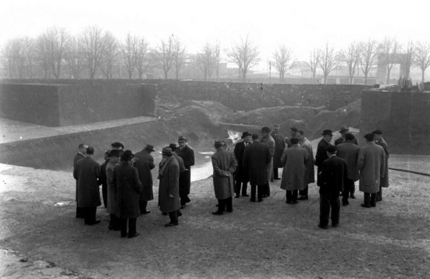 Estadio en enero de 1959. Fondo Arabadok, ATHA.