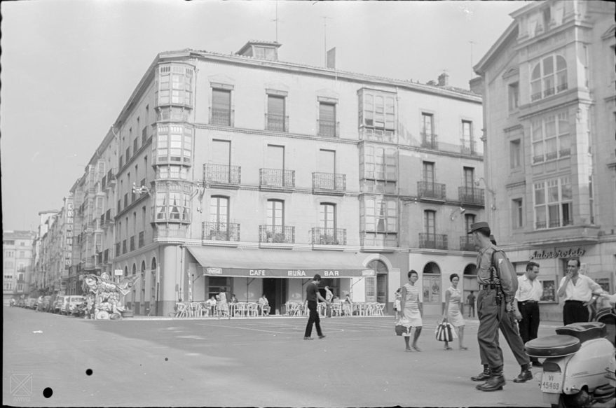 Plaza del Arca en 1969. AMVG-ARQUÉ.